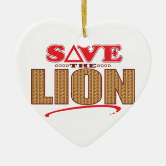 Lion Save Ceramic Heart Decoration