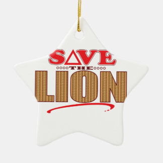 Lion Save Ceramic Star Decoration