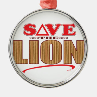 Lion Save Christmas Ornament