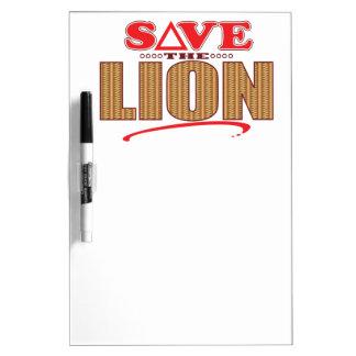 Lion Save Dry Erase Board
