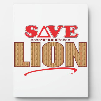 Lion Save Plaque