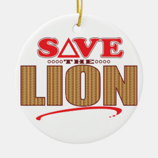 Lion Save Round Ceramic Decoration