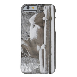 Lion sculpture covered in snow barely there iPhone 6 case