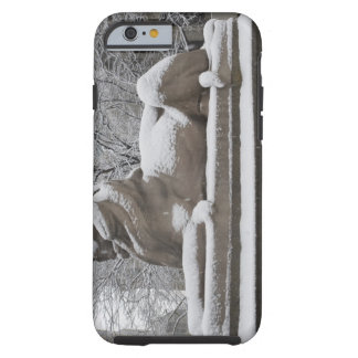 Lion sculpture covered in snow tough iPhone 6 case