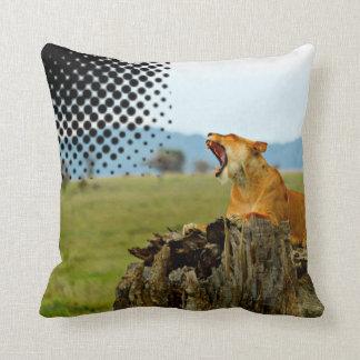 Lion Serengeti Pillow by Sajjad Sherally Fazel Cushion