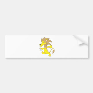 Lion Shirt | Custom Cute Lion Drink Juice Cup Bumper Sticker