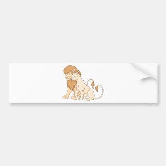 Lion Shirt | Cute Custom Lion Shirt Bumper Sticker