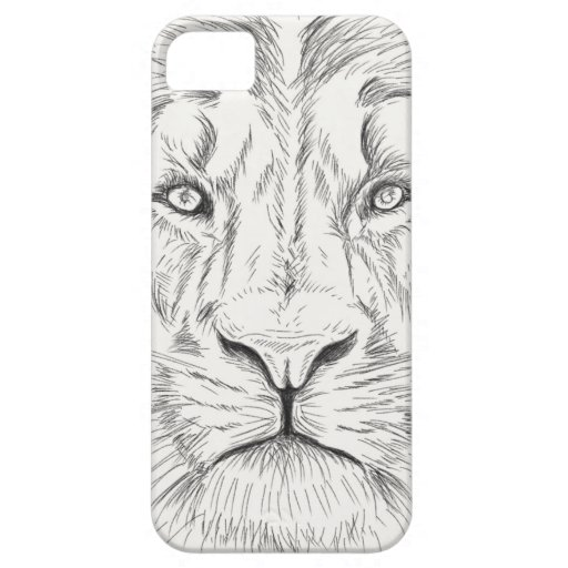 Lion sketch iPhone 5/5S covers