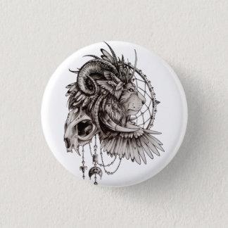 Lion Skull 3 Cm Round Badge
