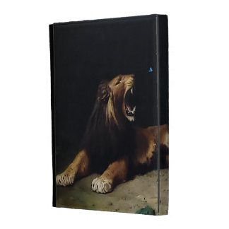 Lion Snapping at a Butterfly iPad Case