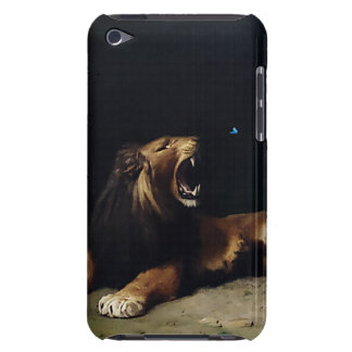 Lion Snapping at a Butterfly iPod Touch Cover
