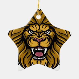 Lion Sports Mascot Christmas Ornament