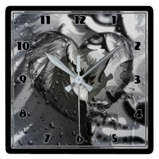Lion Square Wall Clock