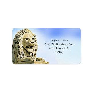 Lion Statue Address Labels