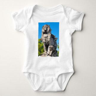 Lion statue baby bodysuit