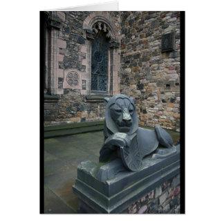 Lion statue - Edinburgh Castle Card