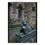 Lion statue - Edinburgh Castle Greeting Card