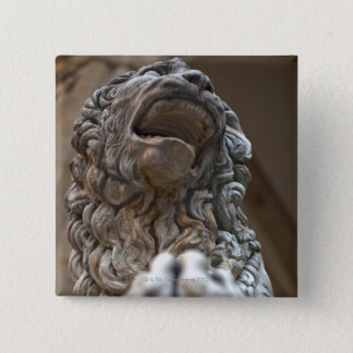 lion statue Florence Italy 15 Cm Square Badge