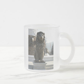 Lion Statue Frosted Glass Mug
