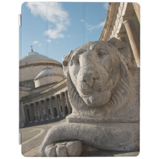 Lion statue in front of San Francesco di Paola iPad Cover