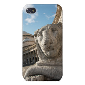 Lion statue in front of San Francesco di Paola iPhone 4/4S Case