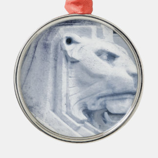 Lion statue in Nottingham Christmas Ornament