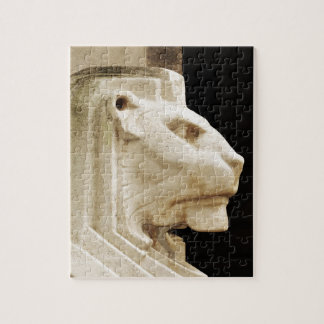 Lion statue in Nottingham Jigsaw Puzzle