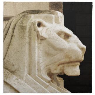 Lion statue in Nottingham Napkin
