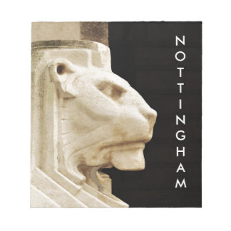 Lion statue in Nottingham Notepad