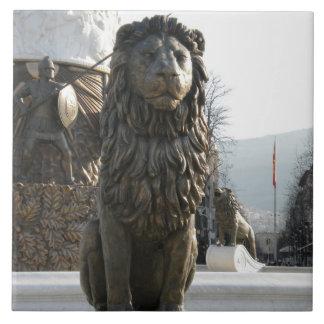 Lion Statue Large Square Tile