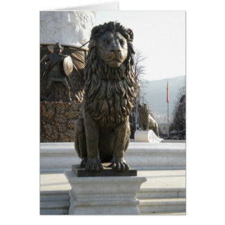 Lion Statue Note Card