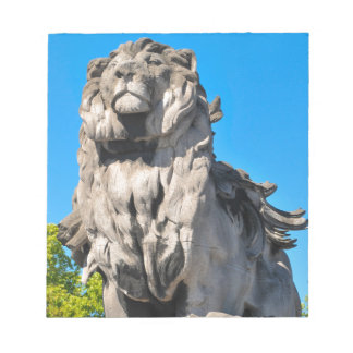 Lion statue notepad