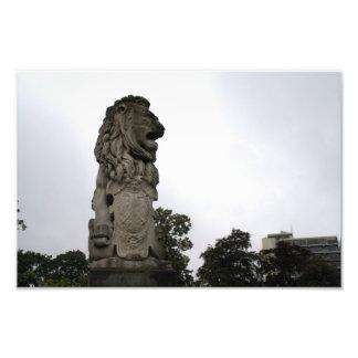 Lion statue art photo