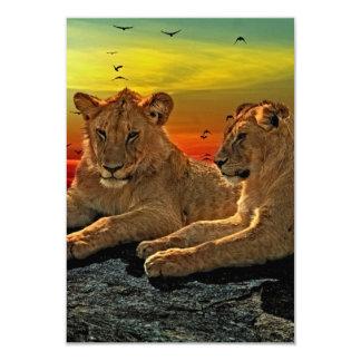 Lion Style 9 Cm X 13 Cm Invitation Card