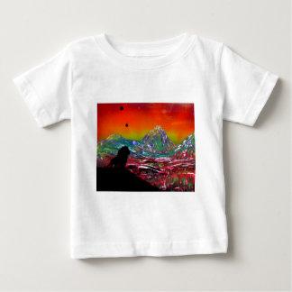 Lion Sunset Landscape Spray Paint Art Painting Baby T-Shirt