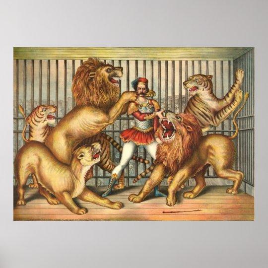 Lion Tamer 1873 Poster