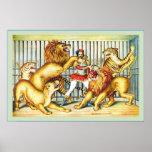 Lion Tamer ~ Vintage Circus Poster ~ 1873