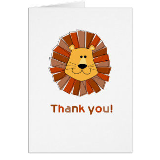 Lion Thank You Cards