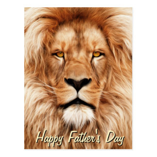 Lion The King Photo Painting Father's Day Postcard