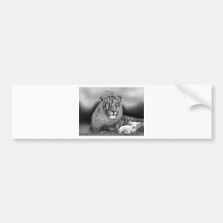 Lion & the Lamb Bumper Sticker