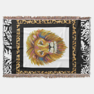 Lion Throw Blanket Two