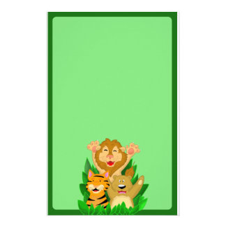 Lion Tiger and Bear Stationery