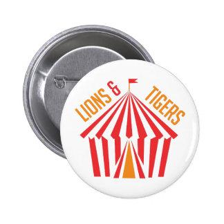 Lion & Tigers 6 Cm Round Badge