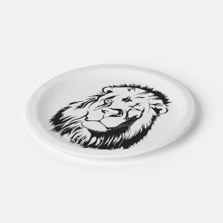 Lion Tribal 002 7 Inch Paper Plate