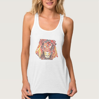 Lion Typography Women's Tank White