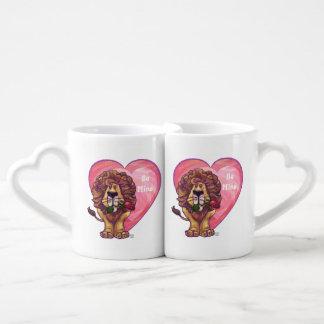 Lion Valentine's Day Couple Mugs