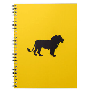 Lion Vintage Wood Engraving Notebooks
