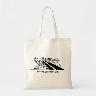 Lion w/Lightning Bolts { Black 1 } Budget Tote Bag