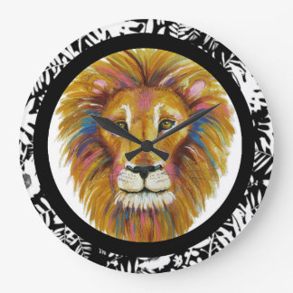 Lion Wall Clock Two