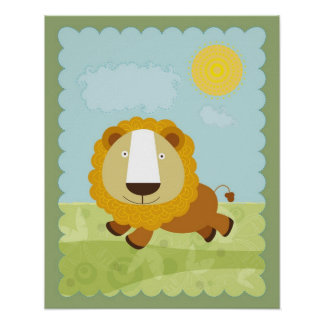 Lion wall decoration poster